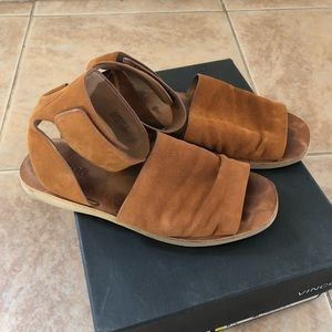 VINCE Sadie Sandals, tobacco leather size 6.5